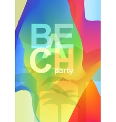 Abstract creative colorful party flyer vector image