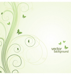 abstract floral background with butterfly vector image