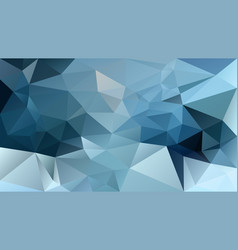 Abstract irregular polygonal background icy blue vector