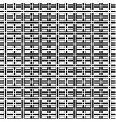 abstract op art black and white geometric pattern vector image