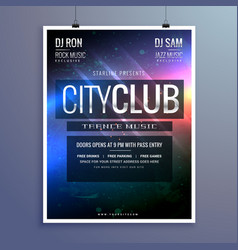 amazing club music party flyer invitation template vector image