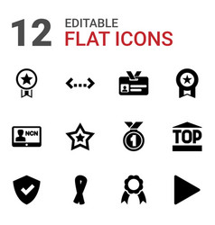 badge icons vector image