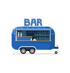 bar outdoor cafe service icon vector image