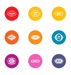 Best buy icons set flat style vector