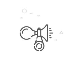 Bike or bicycle horn line icon symbol pictograph vector