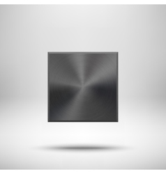 Black abstract Square Button Template vector