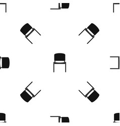 black office chair pattern seamless black vector image