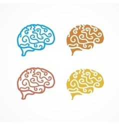 Brain Icon Set vector
