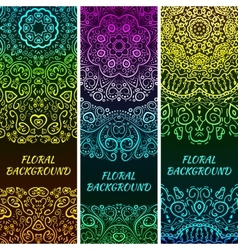 bright asian decorative headers vector image