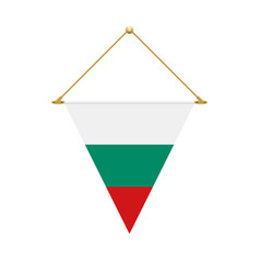 bulgarian triangle flag hanging vector image