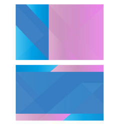 business card geometric lines background banner vector image