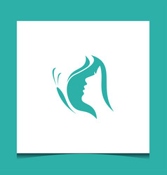 butterfly with girl logo design vector image