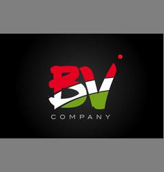 Bv b v alphabet letter logo combination icon vector