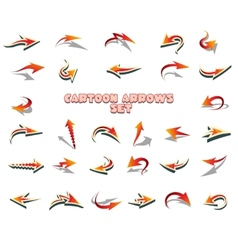 Cartoon Arrows Set vector image
