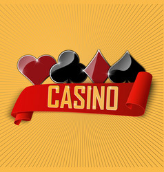 Casino icon includes roulette chips vector