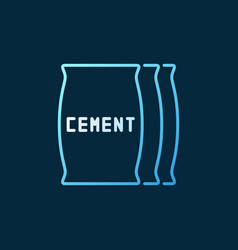 cement bags colored icon or symbol in thin vector image