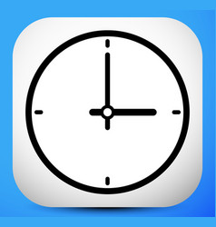 Clock icon with minute hour pointer vector
