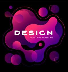 colorful geometric background design fluid shapes vector image