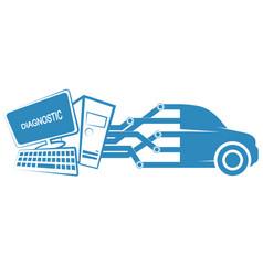 Computer diagnostics of cars vector