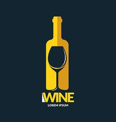 Concept wine logo vector