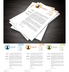 Cover Letter vector
