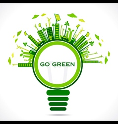 creative design for go green or save earth concept vector image