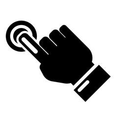 cursor hand click icon simple black style vector image