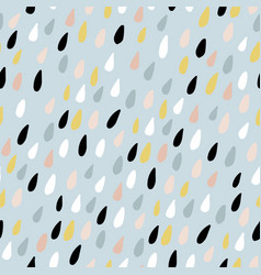 Cute seamless pattern with colorful water drops vector