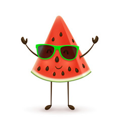 cute watermelon character vector image