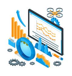 data analysis concept 01 vector image