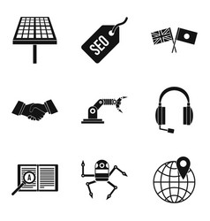 Education technology icons set simple style vector