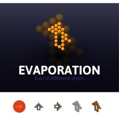 Evaporation icon in different style vector