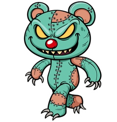 Evil teddy bear vector