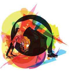 Fit young woman in sportswear vector