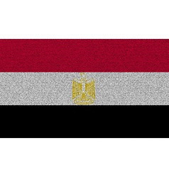 Flags Egypt on denim texture vector image