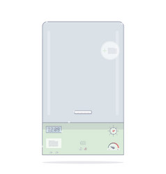 gas boiler heating the house vector image
