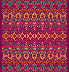 Geometric striped seamless tribal pattern vector