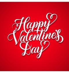 Happy valentines day vintage card vector