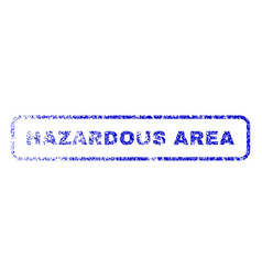 Hazardous area rubber stamp vector