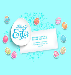 holiday template poster eggs vector image