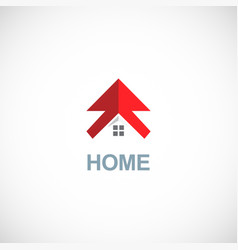 home arrow logo vector image