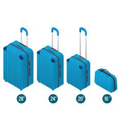 isometric blue business and family vacation travel vector image