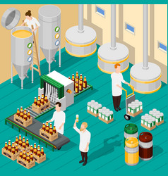 Isometric brewery background vector