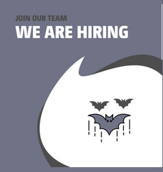 join our team busienss company bat we are hiring vector image