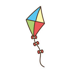 Kite toy icon vector