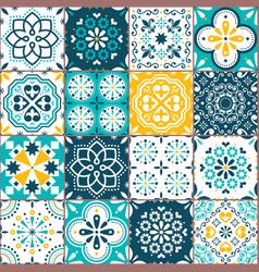 Lisbon azujelo seamless tiles design vector