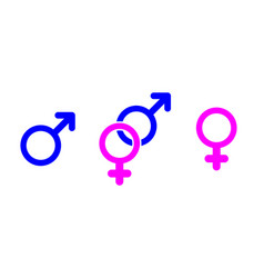 Male and female icons human symbol gender symbol vector