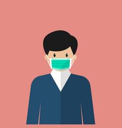 Man wearing medical mask vector