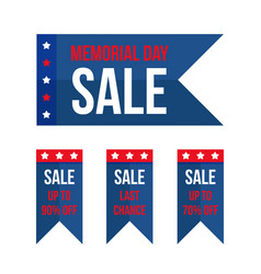 Memorial day sale design elements vector