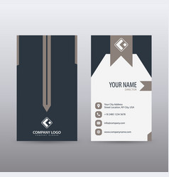 modern creative vertical clean business card vector image